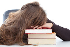 Moment of rest during learning. Moment of rest for student during learning Stock Photos