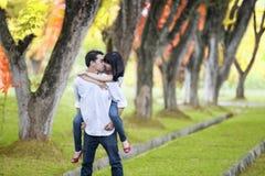 Moment romantique en automne Photo libre de droits