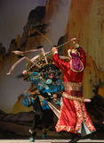 """Moment of rotation- Beijing Opera"""" Women Generals of Yang Family"""" Royalty Free Stock Photos"""