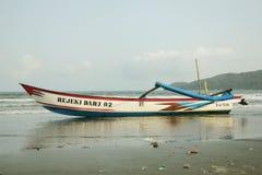 Traditional Boat Pangandaran Fisherman royalty free stock image