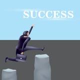 Moment som får framgång blå text för avstånd för rörelse för mellanlägg för illustration för affärsdesign som vågr white Royaltyfri Fotografi