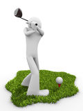Moment before tee stroke, starting golf match Stock Image