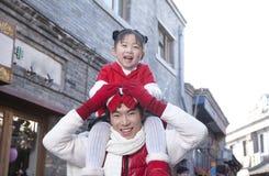 Moment tendre entre le père et la fille Photos libres de droits