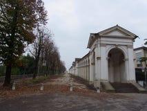 Moment till Monte Berico, Vicenza Arkivbilder