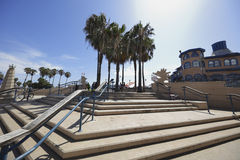 Moment till Santa Monica Pier Arkivfoton