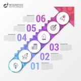 Moment till strating av en affärsmall Infographic design Royaltyfri Bild