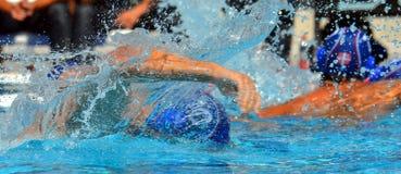Moment waterpolo dopasowanie Obraz Royalty Free