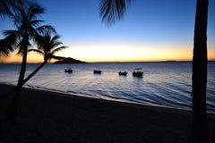 Momenti di tramonto di bloccaggio fotografia stock