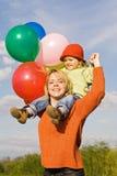 Momenti felici della famiglia Fotografia Stock Libera da Diritti