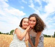 Momenti felici della famiglia Fotografia Stock