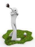 Momento antes del movimiento de la te, comenzando el emparejamiento del golf ilustración del vector