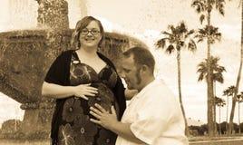 Momento da gravidez Imagens de Stock