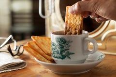 Momento de desayuno. Foto de archivo