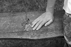 momento de muchacha sola Fotos de archivo