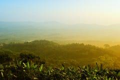 Momento de oro de paisaje Foto de archivo libre de regalías