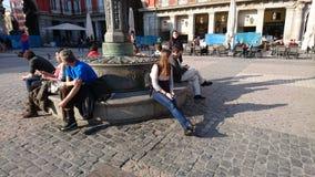 Momento de relax plaza mayor Stock Photography