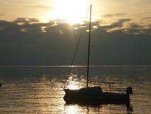 Momento de relaxamento de Garda Itália do lago Foto de Stock