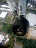 Momento del aterrizaje Fotos de archivo