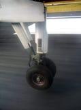 Momento del aterrizaje Imagenes de archivo