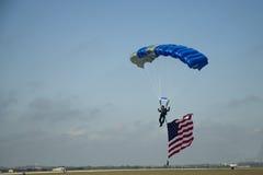 Momento del aterrizaje los E.E.U.U. Fotos de archivo libres de regalías