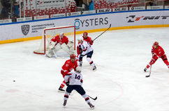 Momento del gioco al portone di Spartak Fotografia Stock Libera da Diritti