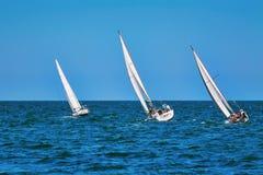 Momento della corsa di yacht Fotografia Stock Libera da Diritti