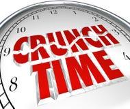 Momento di finale di termine di attività di fretta dell'orologio marcatempo di scricchiolio Immagine Stock
