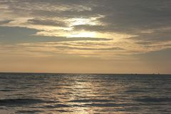 Momento di tramonto in Pantai Cenang Fotografie Stock
