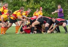 Momento do jogo de rugby Imagem de Stock Royalty Free