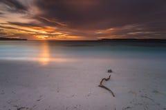 Momento do por do sol e do nascer do sol Fotografia de Stock Royalty Free