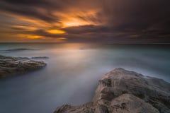 Momento do por do sol e do nascer do sol Imagens de Stock Royalty Free