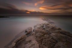 Momento do por do sol e do nascer do sol Fotos de Stock Royalty Free