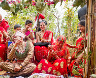 Momento feliz da cerimônia de casamento Fotos de Stock