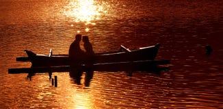 Momento romântico Fotos de Stock Royalty Free
