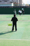 Momentos 3 del tenis?. foto de archivo
