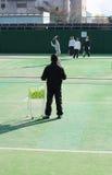 Momentos 3 do tênis?. Foto de Stock