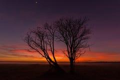 momentos antes de la salida del sol Fotos de archivo