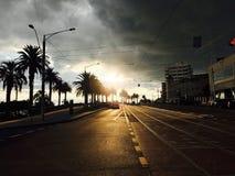 Momentos antes de puesta del sol imagen de archivo libre de regalías