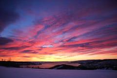 Momentos antes de salida del sol imagen de archivo libre de regalías