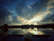 Momentos de Baywalk del paisaje Imagen de archivo