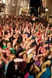 Momentos de destello de la danza de la multitud de la Eurovisión Fotografía de archivo libre de regalías