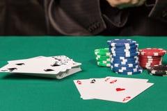 Momentos do jogo no pôquer Imagem de Stock Royalty Free