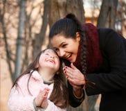 Momentos felices de la familia Fotografía de archivo libre de regalías