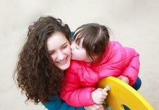 Momentos felices de la familia Imagen de archivo libre de regalías