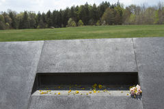 Momentos left at Flight 93 crash site Royalty Free Stock Image