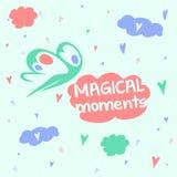 Momentos mágicos Buen humor, cabeza en las nubes Imagen de archivo
