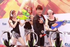 moments de la fille de scène 2013ChinaJoy Photos stock