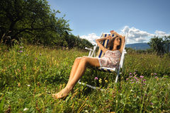Moments de relaxation pure photos stock
