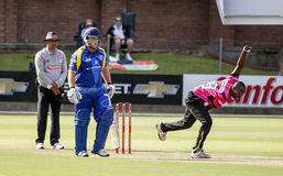 Momentum One Day Cup. The Momentum one day Cup played at St Georges Park in Port Elizabeth South Africa between Chevrolet Warriors and Nashua Mobile Cape Cobras royalty free stock images