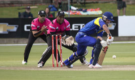 Momentum One Day Cup. The Momentum one day Cup played at St Georges Park in Port Elizabeth South Africa between Chevrolet Warriors and Nashua Mobile Cape Cobras stock photo